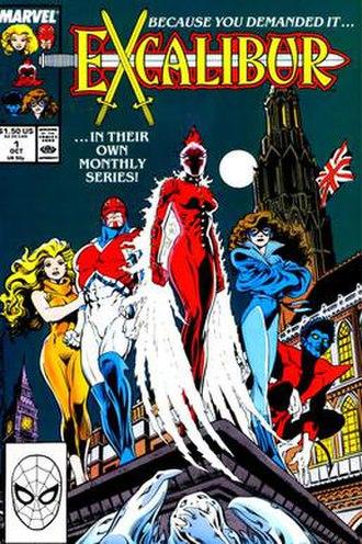 Excalibur (comic book) - Image: Excalibur No 1, Oct 1988