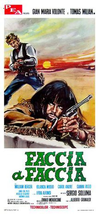 Face to Face (1967 film) - Italian film poster by Morini