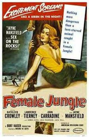 Female Jungle - Theatrical release poster by Albert Kallis