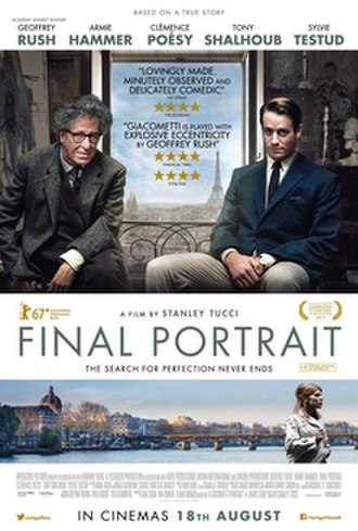 Final Portrait - Theatrical release poster