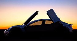 A 2016 Teaser Image Of The First Car To Be Produced By Fisker Inc