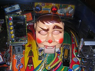 FunHouse (pinball) - Rudy, a plastic head resembling a ventriloquist dummy, conceals a kick-out hole behind his mouth. This is Funhouse's most recognizable feature.