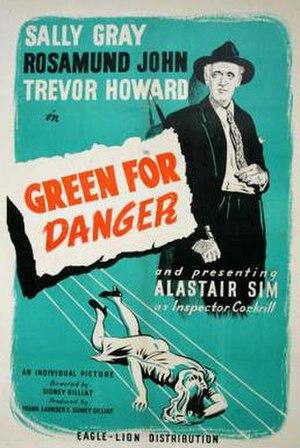 Green for Danger (film) - Green for Danger film poster
