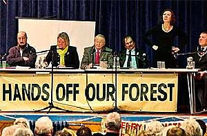 Hands off our Forest - Hands off our Forest public meeting, December 2010.