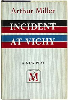 Image result for incident at vichy book cover