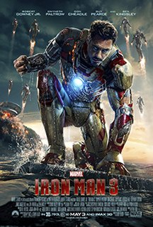 <i>Iron Man 3</i> 2013 superhero film produced by Marvel Studios