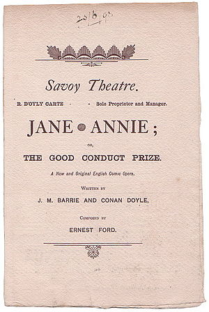 Jane Annie - Cover of programme, 1893