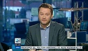 Poranek TVN24 - Jarosław Kuźniar presenting Poranek TVN24 on 19 July 2011