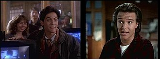 Jimmy Olsen - Michael Landes (left) and Justin Whalin (right) as Jimmy Olsen in Lois & Clark: The New Adventures of Superman .