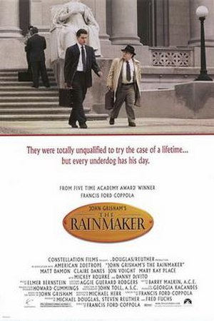 The Rainmaker (1997 film) - Theatrical release poster