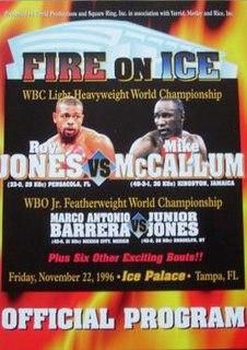Roy Jones Jr. vs. Mike McCallum Boxing competition