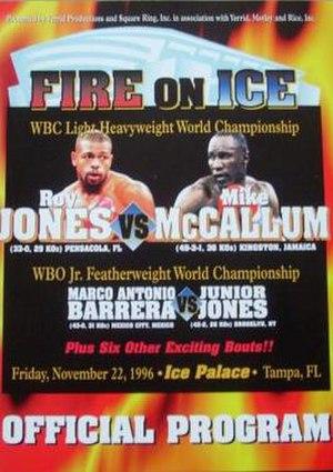 Roy Jones Jr. vs. Mike McCallum - Image: Jones vs Mc Callum