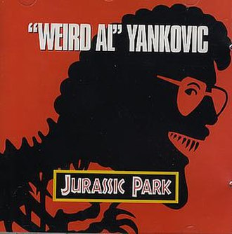 Jurassic Park (song) - Image: Jurassic Park (Weird Al Yankovic single cover art)