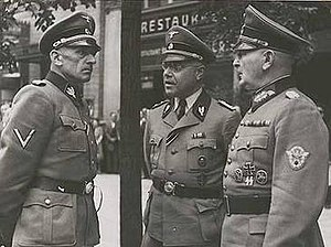 Julian Scherner - Julian Scherner (centre), with Karl Hermann Frank (left)