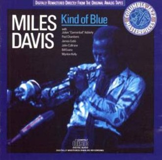 Kind of Blue - 1986 Columbia Jazz Masterpieces compact disc reissue cover