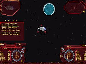 History of Star Trek games - HUD screen in Klingon Academy, which serves as main game screen.