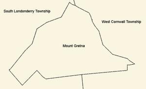 Mount Gretna, Pennsylvania - Border detail of Mount Gretna and surrounding municipalities