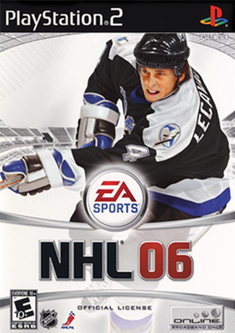 NHL 06 - North American cover art for PS2 Pictured: Vincent Lecavalier