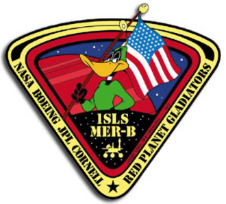 Duck Dodgers - Duck Dodgers in the Mars Exploration Rover Opportunity mission patch.
