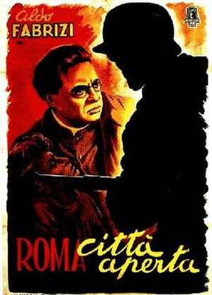 Rome, Open City - Theatrical release poster