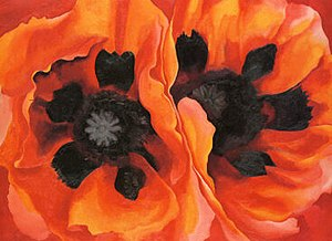 Oriental Poppies (painting) - Image: Oriental Poppies an oil painting by Georgia O'Keefe
