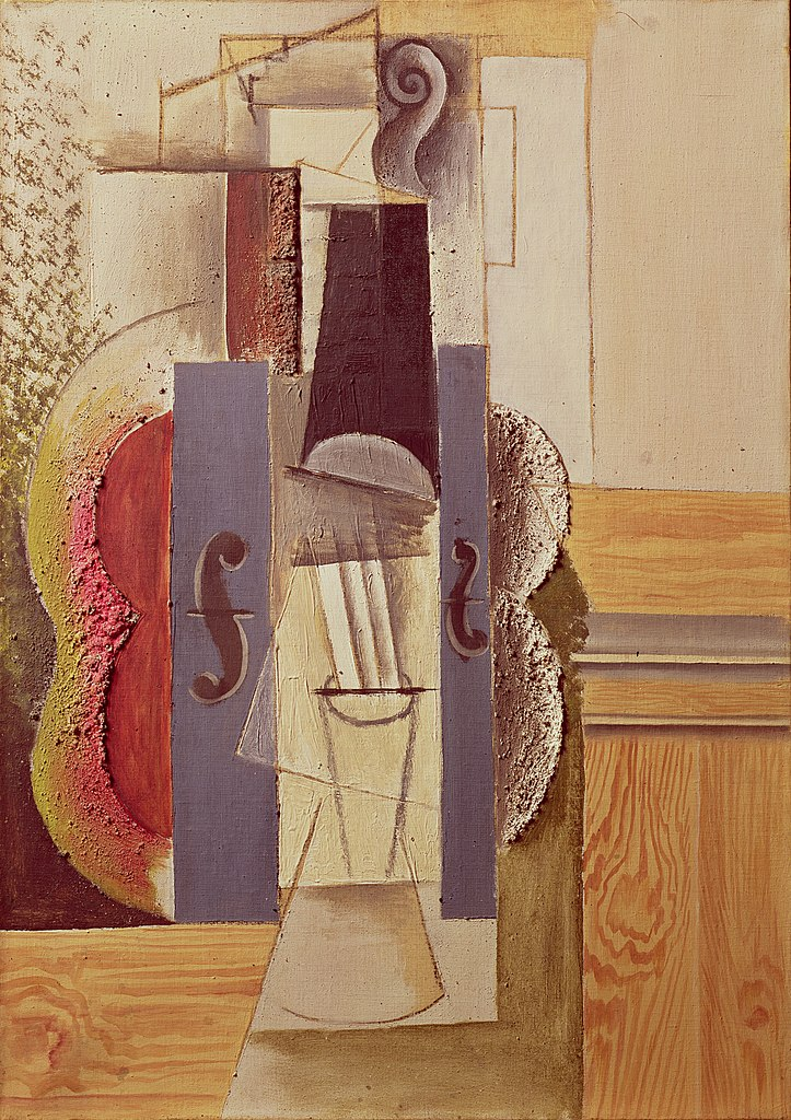 File:Pablo Picasso, 1913, Violin Hanging on the Wall, oil, spackle ...