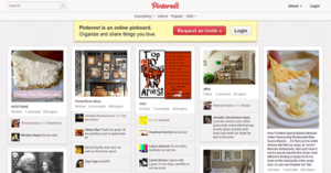 Pinterest - Design as of May 2015.