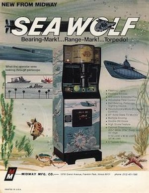 Sea Wolf (video game) - Image: Sea wolf arcade midway flyer
