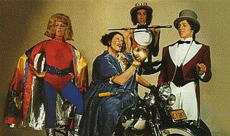 The Aunty Jack Show - Flange Desire, Aunty Jack, Thin Arthur, and Narrator Neville in 1972