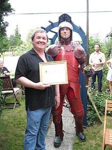Shane Simpson with the Dundas Crossing Knight.jpg