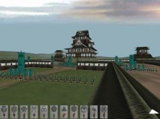 Shogun: Total War - A siege battle underway in the game's real-time tactics element