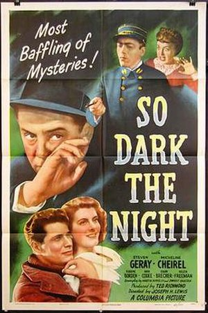 So Dark the Night - Theatrical release  poster