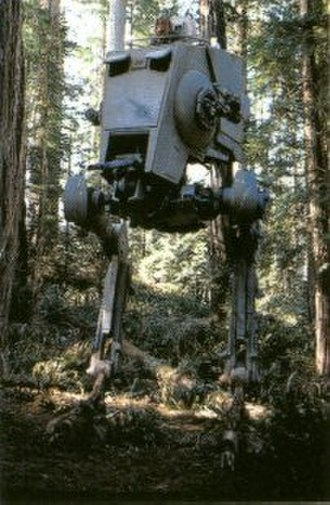 Walker (Star Wars) - An AT-ST walker, as depicted in Return of the Jedi