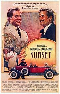 <i>Sunset</i> (1988 film) 1988 American film by Blake Edwards