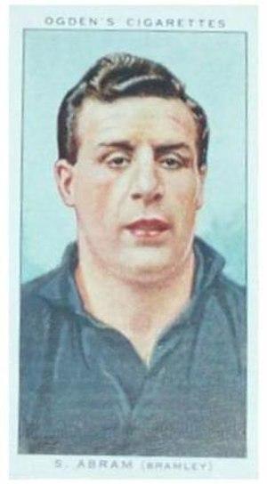 Syd Abram - Ogden's Cigarette card featuring Sydney Abram