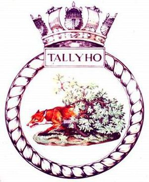 HMS Tally-Ho (P317) - Image: TALLY HO badge 1