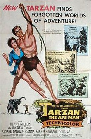 Tarzan, the Ape Man (1959 film) - Theatrical poster