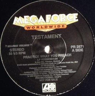 Practice What You Preach (Testament song) - Image: Testament Practice What You Preach (Single)