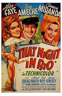 <i>That Night in Rio</i> 1941 film by Irving Cummings