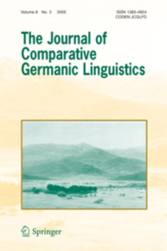 The Journal of Comparative Germanic Linguistics - Image: The Journal of Comparative Germanic Linguistics