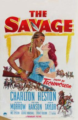 The Savage (1952 film) - Theatrical release poster