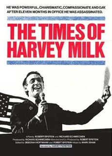 <i>The Times of Harvey Milk</i> 1984 film by Rob Epstein