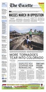 <i>The Gazette</i> (Colorado Springs) newspaper based in Colorado Springs, Colorado, USA