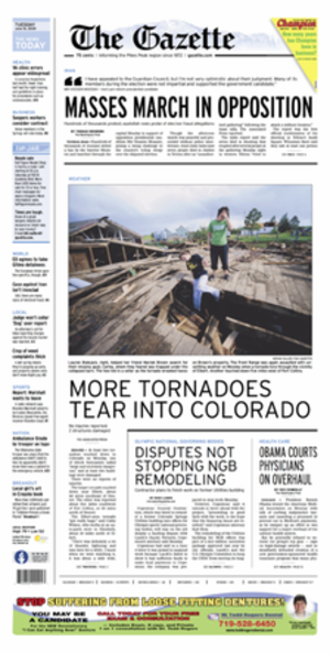 The Gazette (Colorado Springs) - Image: Thegazettejune 162009