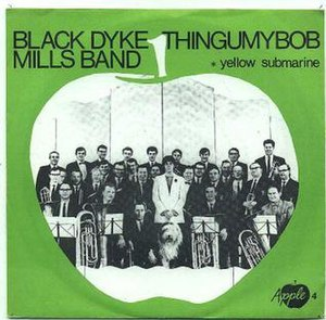 Black Dyke Band - Picture sleeve for the Thingumybob single, Apple 4
