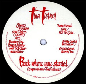 Back Where You Started - Image: Tina Turner Back Where You Started