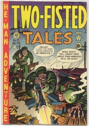 Two-Fisted Tales - Cover illustration by Harvey Kurtzman