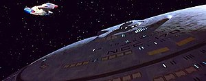 Spacecraft in Star Trek - Image: USS Enterprise D separated