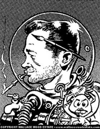 Wally Wood - Self-portrait by Wally Wood