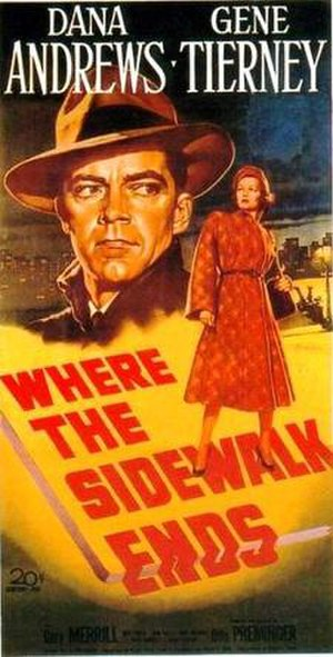 Where the Sidewalk Ends (film) - Theatrical release poster